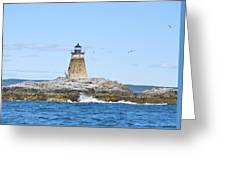 Saddleback Ledge Light Greeting Card