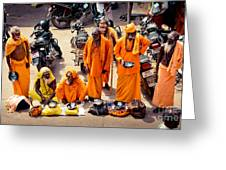 Sadhu Near The Thirupparamkunram Murugan Temple Greeting Card