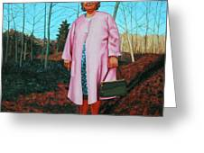 Sadie In Pink Greeting Card