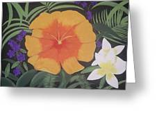 Safari Orange Greeting Card by Melanie Blankenship