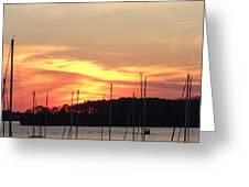 Safe Harbor Sunset Greeting Card