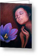 Saffron Greeting Card by Patricia  Dees