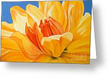 Saffron Splendour Greeting Card