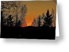 Saffron Sunset Greeting Card