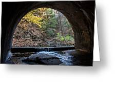 Sagamore Creek Tunnel Entry Greeting Card
