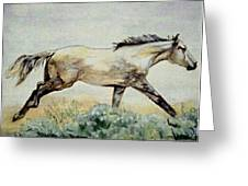 Sage Runner Greeting Card