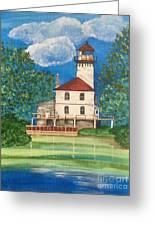 Saginaw River Light Greeting Card