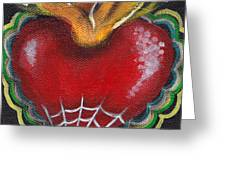 Sagrado Corazon 2 Greeting Card by  Abril Andrade Griffith