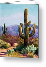 Saguaro Greeting Card by Candy Mayer