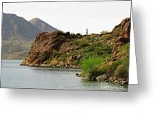 Saguaro Lake Shore Greeting Card