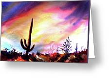 Saguaro National Monument Greeting Card
