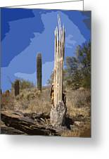 Saguaro Skeleton Greeting Card