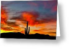 Saguaro Sunrise Greeting Card
