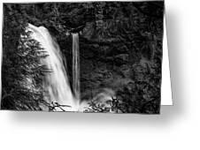 Sahalie Falls No. 4 Bw Greeting Card