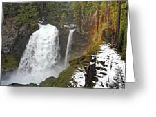 Sahalie Falls, Oregon Greeting Card