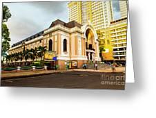 Saigon's Opera House Vietnam Greeting Card