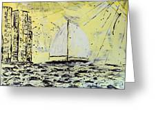 Sail And Sunrays Greeting Card