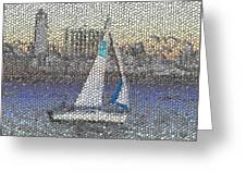 Sail At Sunset Greeting Card