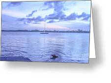 Sail Away Devils Island Greeting Card
