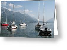Sail Boats, Lake Como, Italy Greeting Card
