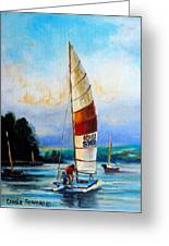 Sail Boats On The Lake Greeting Card