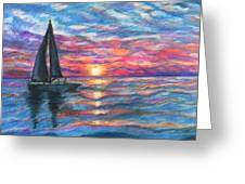 Sail On And Fly Like The Wind Greeting Card