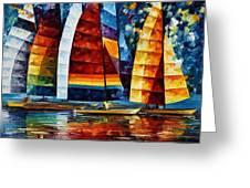 Sail Regatta Greeting Card