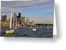 Sail Seattle Greeting Card