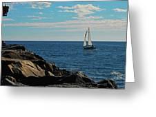 Sail View Greeting Card