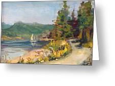 Sailboat At Rebecca Spit Greeting Card