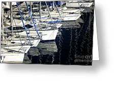 Sailboat Bow Greeting Card by John Rizzuto