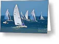 Sailboat Championship Racing 2 Greeting Card