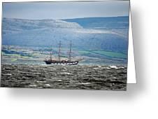 Sailboat Galway Ireland Greeting Card