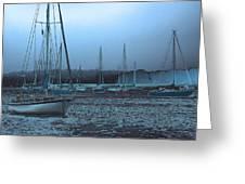Sailboat Harbor Greeting Card