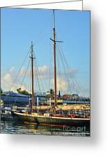 Sailboat, Mast, And Sails Greeting Card
