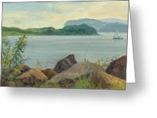 Sailboat Near Croton Landing Greeting Card