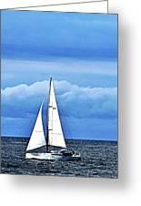 Sailboat No. 143-1 Greeting Card