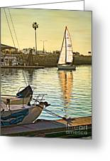 Sailboat On Arrival Greeting Card