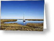 Sailboat On Cape Cod Bay Greeting Card