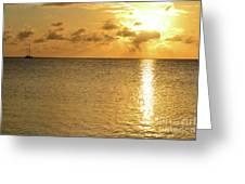 Sailboat On The Horizon 3 Greeting Card