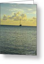 Sailboat On The Horizon Greeting Card