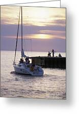 Sailboat Setting Out From Bayfield Greeting Card