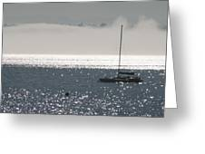 Sailboat Silhouette Greeting Card
