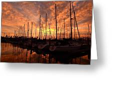 Sailboat Sunset Greeting Card