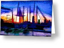 Sailboats At Rest Greeting Card