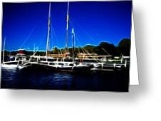 Sailboats Mystic Seaport Greeting Card