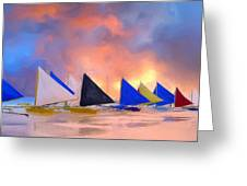 Sailboats On Boracay Island Greeting Card