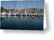 Sailboats Reflected Greeting Card