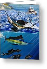 Sailfish In Costa Rica Greeting Card