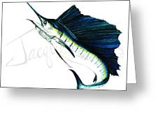 Sailfish Jumping Greeting Card
